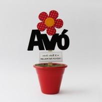 Mini Vaso Avó flor