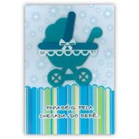 Cartão Artesanal Carrinho menino