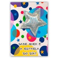 Cartão Artesanal Estrela do dia