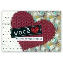 Cartão Mix Coração gliter