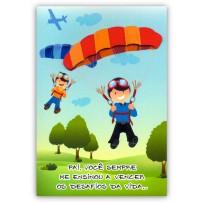 Cartão Artesanal Pai Paraquedas
