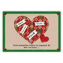 Cartão Mix Natal Coração natalino  *