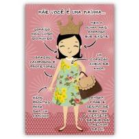 Cartão Artesanal Mãe Perfeita