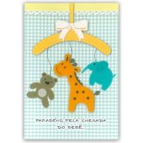Cartão Artesanal Cabide bebê