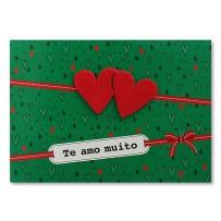 Cartão Mix Natal Dois corações  *