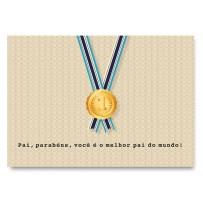 Cartão Essencial Pai Medalha