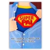 Cartão Artesanal Pai Camisa aberta superpai  *