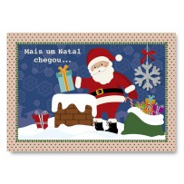Cartão Mix Natal Noel na chaminé