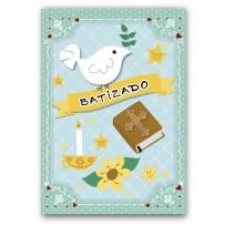 Cartão Artesanal Batizado