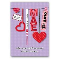 Cartão Artesanal Mãe Tags