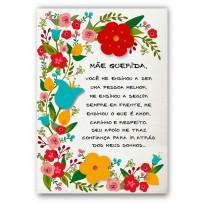 Cartão Artesanal Mãe Floral Carta