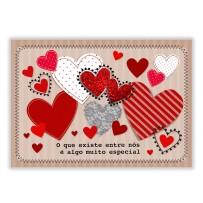 Cartão Mix Corações diferentes