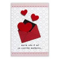 Cartão Artesanal Carta com coração