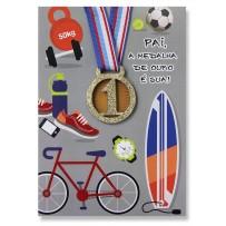 Cartão Artesanal Pai Esportista