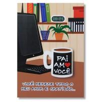 Cartão Artesanal Pai Caneca