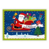 Cartão Mix Natal Papai Noel trenó