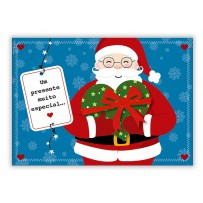 Cartão Mix Natal Papai Noel coração  *