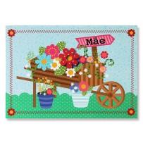 Cartão Mix Mãe Carrinho Flores