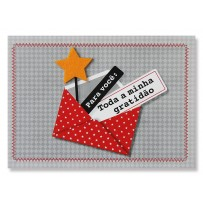 Cartão Mix Envelope estrela