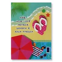Cartão Artesanal Mãe Praia