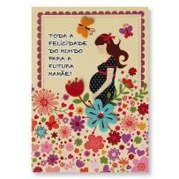 Cartão Artesanal Futura mamãe Jardim