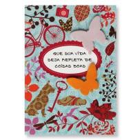 Cartão Artesanal Borboletas coloridas