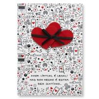 Cartão Artesanal Amor virtual
