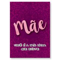 Cartão Artesanal Mãe Gliter