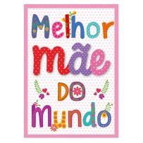 Cartão Artesanal Mãe Letras coloridas