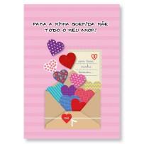 Cartão Artesanal Mãe Envelope corações