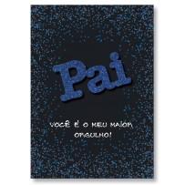 Cartão Artesanal Pai Gliter