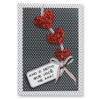 Cartão Artesanal Três corações