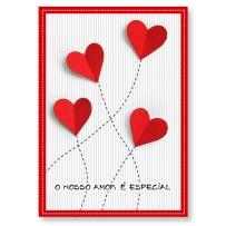 Cartão Artesanal Coração dobrado
