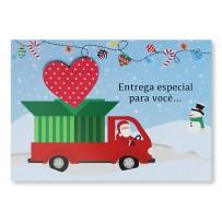 Cartão Mix NatalCarro com coração