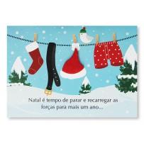 Cartão Mix Natal Varal Noel