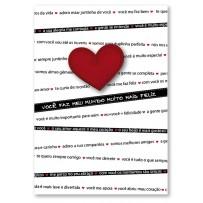 Cartão Artesanal  Frases de amor