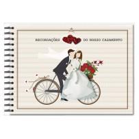 Álbum de recordações Casamento Bicicleta