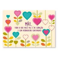 Cartão Mix Mãe Corações flores