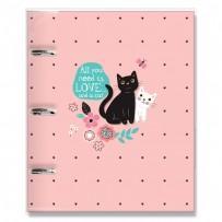 Caderno argolado Gatos
