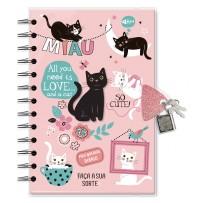 Diário com chave Gatos