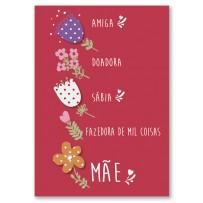 Cartão Artesanal  Mãe Você é