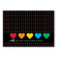 Cartão Mix Romântico Mundo colorido