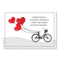 Cartão Mix Romântico Bicicleta balões