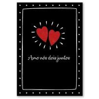 Cartão Artesanal Amo nós juntos