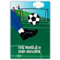 Cartão Artesanal Pai Futebol  *