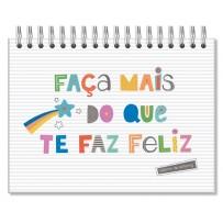Caderno de lettering fls. pretas Frases coloridas