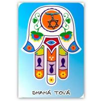 Cartão Artesanal Judaico Hamsa