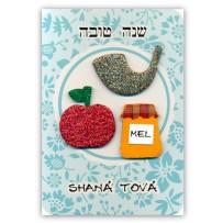 Cartão Artesanal Judaico Shofar