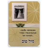 Cartão Artesanal Judaico Foto casamento